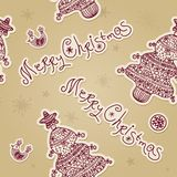 Vintage christmas vector seamless pattern with Royalty Free Stock Image