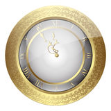Vintage Christmas wall clock with vintage ornament Stock Image