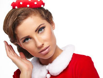 Vintage christmas woman Stock Photography