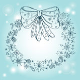 Vintage Christmas wreath Royalty Free Stock Images