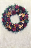 Vintage Christmas wreath Royalty Free Stock Photography