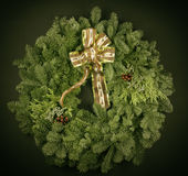 Vintage Christmas Wreath Stock Images