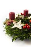 Vintage Christmas wreath Stock Photography