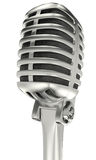 Vintage chrome microphone Royalty Free Stock Photo