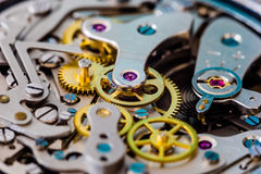 Vintage chronograph mechanical watch close-up Stock Image