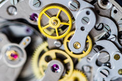 Vintage chronograph mechanical watch close-up Royalty Free Stock Image