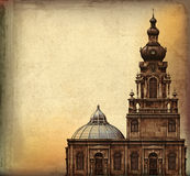 Vintage Church Background Royalty Free Stock Photography
