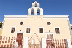 Vintage church in Oia, Santorini Royalty Free Stock Photos