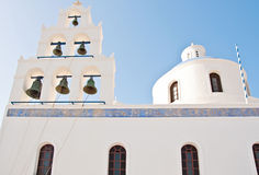 Vintage church in Oia, Santorini, Greece Stock Images