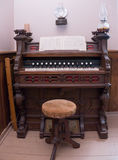Vintage Church Organ front view Royalty Free Stock Images