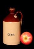 Vintage cider bottle and apple Royalty Free Stock Images