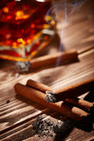 Vintage cigar Royalty Free Stock Images