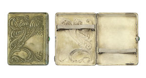 Vintage cigarette case Royalty Free Stock Photos