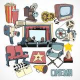 Vintage Cinema Concept Poster Stock Photos
