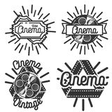 Vintage cinema emblems Royalty Free Stock Photography