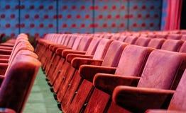 Vintage cinema hall chairs stock photos