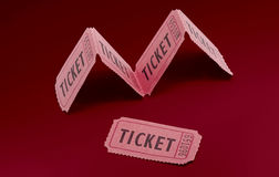 Vintage cinema movie ticket Royalty Free Stock Image