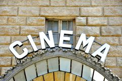 Vintage cinema sign in Italy  Stock Photos