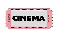 Vintage Cinema Ticket Royalty Free Stock Image