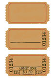 Vintage cinema ticket. With space for any text. Flat vector Royalty Free Stock Images