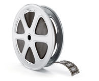 Vintage cinematography reel film on disc. 3d rendered illustration.  on white background Royalty Free Stock Photography