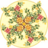 Vintage Circle Floral Ornament. Circle floral ornament in vintage style Stock Photography
