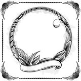 Vintage circle frame vector illustration