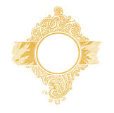 Vintage circle frame from old paper Royalty Free Stock Photos
