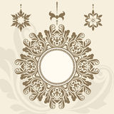 Vintage circle frame, set of ornate pendants Royalty Free Stock Photos