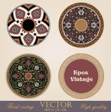 Vintage circle Frames and Borders. Stock Photos