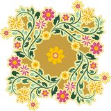 Vintage Circle Ornament. Circle floral ornament in vintage style Stock Photos