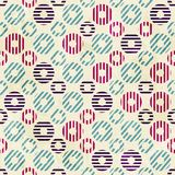 Vintage circle seamless pattern with paper effect Royalty Free Stock Image