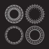 Vintage circle set round frames Royalty Free Stock Image