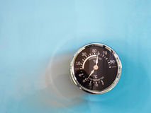 Vintage Circle thermometer, measure temperature and humidity of Stock Image
