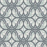 Vintage circles and waves seamless pattern. Stock Photography