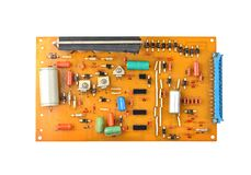 Vintage circuit board Stock Photography