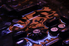 Free Vintage Circuit Board With Red And Blue Reflection Stock Photo - 85412610