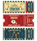 Vintage Circus banner collection. Ticket invitation. Royalty Free Stock Images