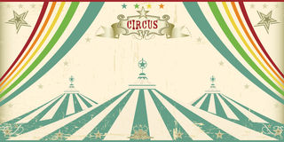 Vintage circus card Royalty Free Stock Photos