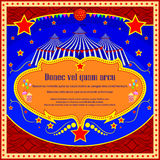 Vintage Circus Cartoon Poster Invitation for Party Carnival  Royalty Free Stock Photo