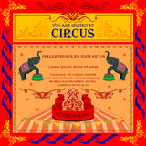 Vintage Circus Cartoon Poster Invitation for Party Carnival   Royalty Free Stock Images