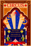 Vintage Circus Cartoon Poster Invitation for Party Carnival   Stock Photo