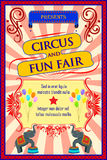 Vintage Circus Cartoon Poster Invitation for Party Carnival   Stock Photos