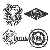 Vintage circus emblems Stock Images
