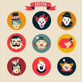 Vintage Circus, freak show icons and hipster Stock Photo