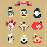 Vintage Circus, freak show icons and hipster Royalty Free Stock Photography