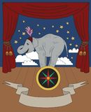 Vintage circus illustrations collection. Flash tattoo. Circus perfomer. Entertainer Elephant Royalty Free Stock Photo
