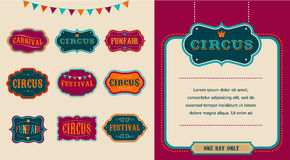 Vintage Circus labels set Stock Photo