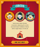 Vintage circus poster, background with carnival Stock Images