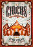 Vintage Circus Poster With Big Top Royalty Free Stock Image